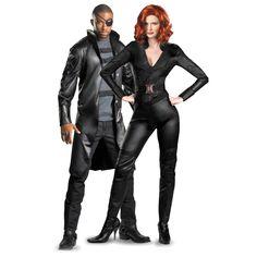 Avengers Nick Fury & Black Widow Couples Costume Superhero Couples Costumes, Halloween Couples, Halloween Ideas, Happy Halloween, Halloween Party, Halloween Costumes, Duo Costumes, Horse Costumes, Cosplay Costumes
