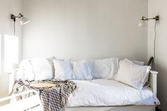 undone ikea - magic snuggle daybed spot - Laura & Tyler's Organic Modern Heritage Apartment