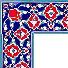 20x20 KS-5 Rumi Desenli Kutahya Cini Bordur