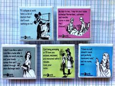 Funny Nurse Magnets by MoonglassJewelry on Etsy, $13.50