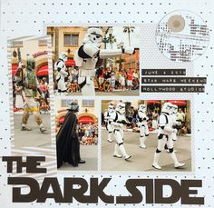 Layout-A-Week: Simple Star Wars layout from Disneyland with handmade Death Star embellishment how to!