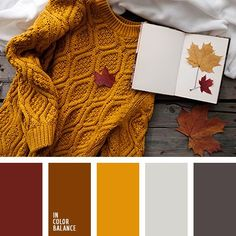 Warm autumn colors. Such touching withering splendor. Burgundy, gold, brown harmony with the gray scale colors. The color combination is attractive for its expressiveness, mature beauty. Its fully appreciate the wise adult women who know a lot about ageless classic. This palette is good for spectacular autumn-spring wardrobe.
