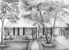 8 x 10 Custom Pen and Ink House by BethSMacreStudio on Etsy, $85.00
