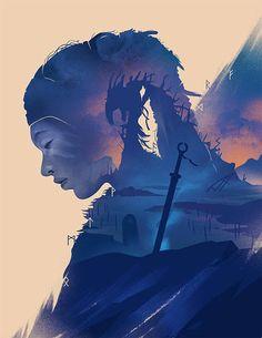 The Geeky Nerfherder: #CoolArt: 'Hellblade: Senua's Sacrifice' by Jeff Langevin