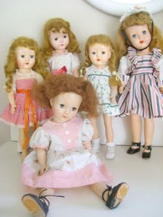 Some of my Sweet Valentine brand 50's dolls and an Arranbee.