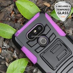 For LG Pink Case Advanced Armor Protector Belt Clip Holster+Glass Screen Lg G5, Cool Phone Cases, Glass Screen, Cell Phone Accessories, Phones, Belt, Awesome, Amp, Pink