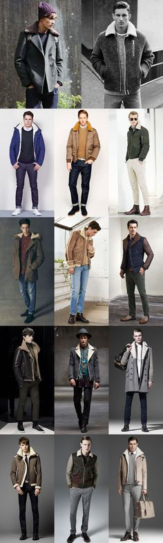 Men's 2014 Autumn/Winter Fashion Trend: Shearling Modern Lookbook Inspiration