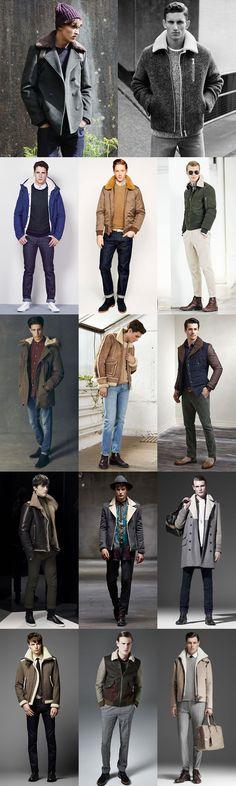 Men's 2014 Autumn/Winter Fashion Trend: Shearling Modern Lookbook Inspiration