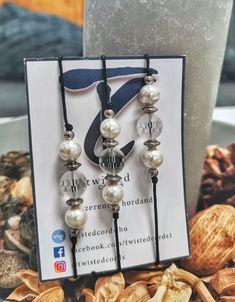 Ásvány zsinór karkötők hegyikristállyal és kagylóhéj gyönggyel Paracord, Washer Necklace, Minden, Drop Earrings, Bracelets, Facebook, Jewelry, Jewlery, Bijoux