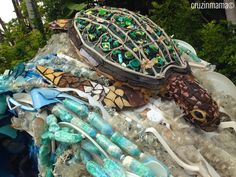 Sea Turtle Recycled Art at Sea World