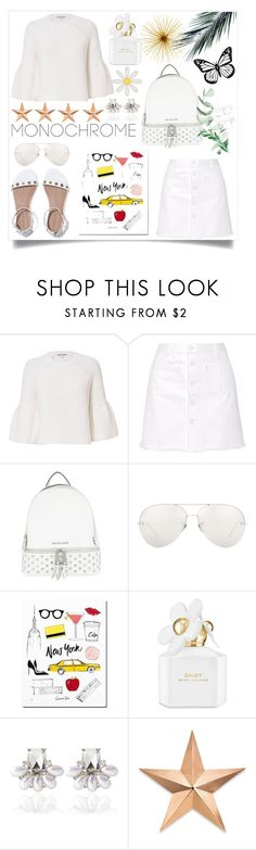 """Monochrome"" by poorvashikalra ❤ liked on Polyvore featuring Elizabeth and James, Steve J & Yoni P, MICHAEL Michael Kors, Linda Farrow, Marc Jacobs and Thos. Baker"
