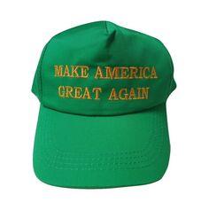 f0d12250d1d4f Make America Great Again Trump Green Gold St. Patrick Kek Pepe Baseball Cap  Hat