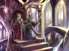 Tags: Fanart, The Lord of the Rings, Pixiv, Kaga, Legolas, Fanart From Pixiv, Thranduil