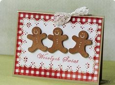 -) / out & about and Christmas baking Create Christmas Cards, Xmas Cards, Diy Cards, Gingerbread Man, Gingerbread Cookies, Stampin Up, Christmas Decorations, Holiday Decor, Fancy Pants