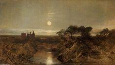 Horatio Mcculloch Dean Castle By Moonlight