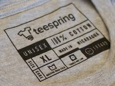 I recently designed Teespring's new clothing tag for our private label tshirts!