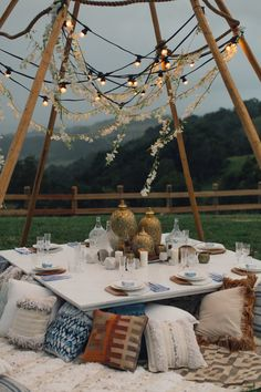 {Styled Shoot} At Dusk // bohemian romance, naked tipi + eclectic tablescape ~ Styled by The Events Lounge // www.theeventslounge.com.au
