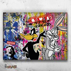 Graffiti Art, Graffiti Lettering, Music Canvas, Canvas Art, Arte Dope, Tableau Pop Art, Images D'art, Street Art, Mickey Mouse Art