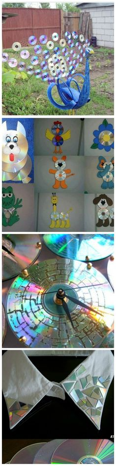 Image via  CD Craft: Crafty uses for old Compact Discs   Image via  Roofing for sheds or dog houses made from upcycled CDs and DVDs. Does anyone else think these look like dragon scales??