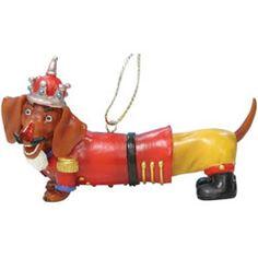 Christmas Theme Dachshund Gifts - dachshund ornaments