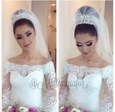 Beautiful bridal makeup Beautiful Bridal Makeup, Beautiful Bride, Wedding Veil, Wedding Day, Wedding Dresses, One Shoulder Wedding Dress, Wedding Hairstyles, Bridal Shower, Wedding Decorations