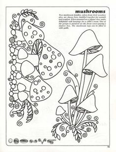 Mushroom pattern - Quilling | Entries in category - quilling | Blog Le_Lya: LiveInternet - Russian Service Online Diaries