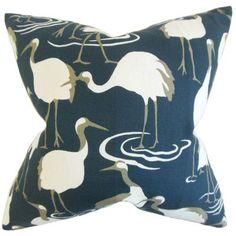 The Pillow Collection Unai Animal Print Bedding Sham Size: Euro, Color: Blue