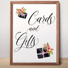 Printable wedding cards and gifts sign Wedding sign by AlniPrints   #ideas #planning #diy #table #photography #rustic #wedding #themes #wedding #colors #fall #photos #country #winter #outdoor #venues  #venues #alniprints #sign #chalkboard #hashtag #reception