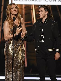 WATCH: Céline Dion Honors 'Beloved' Husband as She Accepts Icon Award from Son at the Billboard Music Awards: 'René, This One's for You' http://www.people.com/article/billboard-music-awards-2016-celine-dion-performance-icon-award