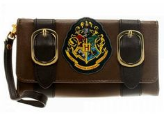 Harry Potter HOGWARTS Crest Trifold Satchel WALLET @ niftywarehouse.com