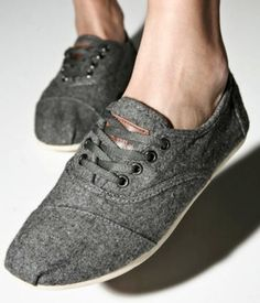 Grey lace up toms