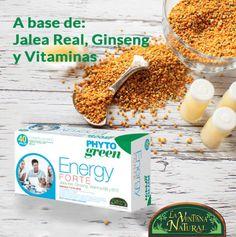 #Novedades Elaborado a base #jaleareal, #ginseng y vitaminas, Energy Forte te aportará ese extra de energía y vitalidad que necesitas, perfecta para esta época del año. Adquiérelo en exclusiva en todas nuestras franquicias. ynsa.diet/energyforte