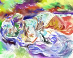 "digital watercolour inspired by John Singer Sargent's ""Zuleika"" -ArtRage"