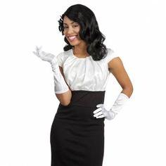 Satijnen handschoenen wit