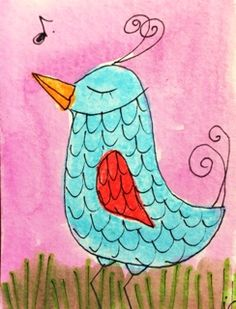www.stores.ebay.com/jeanettes-=folk-art ACEO original watercolor painting starting bid $.99