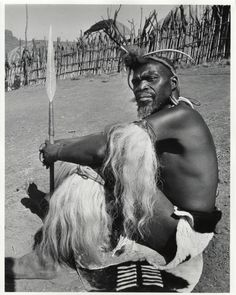 Zulu man photographed on set by Yousuf Karsh of Ottawa during filming of the movie Zulu, released in Karsh focused not on the white movie stars, but rather on the native Zulu people. African Culture, African American History, African Art, Zulu Warrior, Warrior Spirit, South African Tribes, History Articles, Black History Facts, African Diaspora