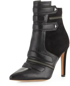 Sam Edelman Margo Suede Leather Bootie Black