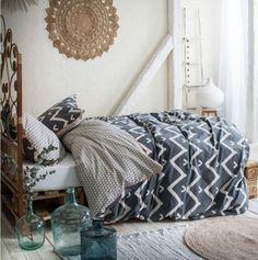 Obojstranné návliečky sivej farby Hippie Chic, Karma, Comforters, Blanket, Bed, Home, Place, Comforter Set, Bedding
