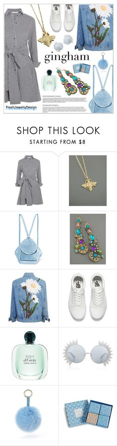 """""""Gingham"""" by shambala-379 ❤ liked on Polyvore featuring Maje, MANU Atelier, Vans, Linda Farrow, Forever 21, Vera Bradley and vintage"""