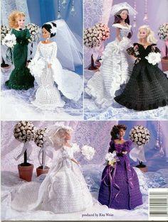 CROCHET: Barbie, Fashion Doll Wedding Day,