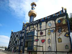 District energy plant in Vienna designed by Hundertwasser