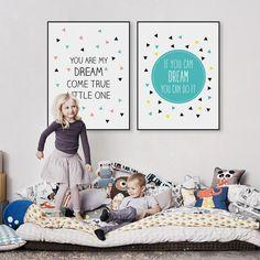 Dream Quotes - #DressUpYourWalls - Home Bedroom Nursery Cafe Decor | Canvas Wall Art | Dress Up Your Walls  | DressUpYourWalls.com