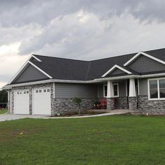 grey exterior house colors Adorn Mortarless Stone Veneer is the natural choice for your next home improvement or new construction project. Adorn gives you the power to easily Stone Veneer Exterior, Stone Exterior Houses, House Paint Exterior, Grey Siding House, Gray Siding, Stone Siding, Gray House Exteriors, House Ideas Exterior, Rock Siding