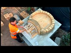 Building a Brick wood fired dome, pizza oven Brick Oven Outdoor, Outdoor Kitchen Patio, Outdoor Rooms, Outdoor Living, Outdoor Bars, Outdoor Showers, Outdoor Decor, Outdoor Kitchens, Build A Pizza Oven