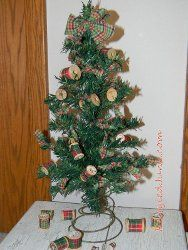 Recycled Bedspring and Spool Tree