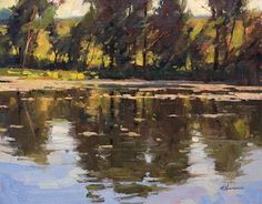 Across the Pond by Marc Hanson Oil ~ 11 x 14