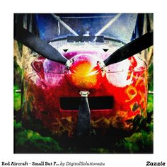 Red Aircraft - Small But Fierce Acrylic Print