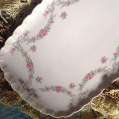 kuchenplatte vintage : Vintage Tortenplatten - Hutschenreuther Kuchenplatte rosa Porzellan ...