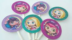 Little Charmers Birthday Party Cupcake toppers by PartyPaperPlace 4th Birthday, Birthday Celebration, Birthday Parties, Little Charmers, Splash Pad, Cupcake Party, Cupcake Toppers, Ava, Celebrations