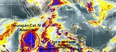 Foto: Huracán 'Amanda' alcanza categoría 4; alerta por lluvias